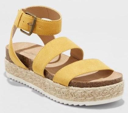 Universal Thread Yellow Espadrilles Wedges