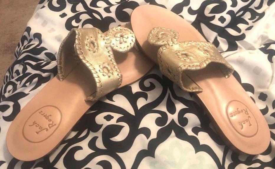 Jack Rogers Gold Accent Sandals
