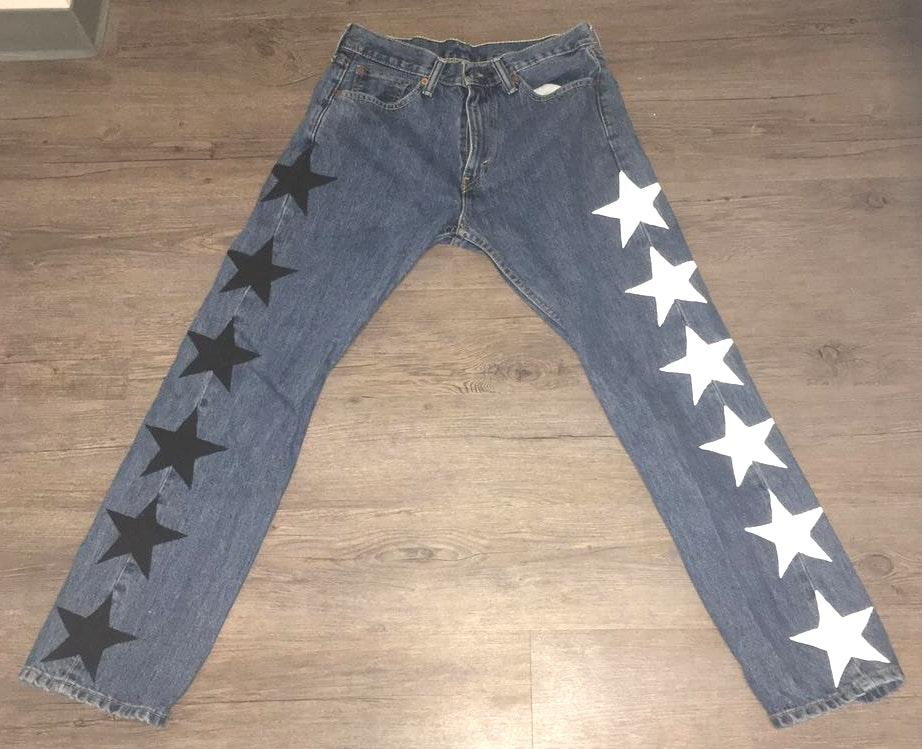 Levi's HAND PAINTED STAR JEANS⭐️🖤⭐️🖤