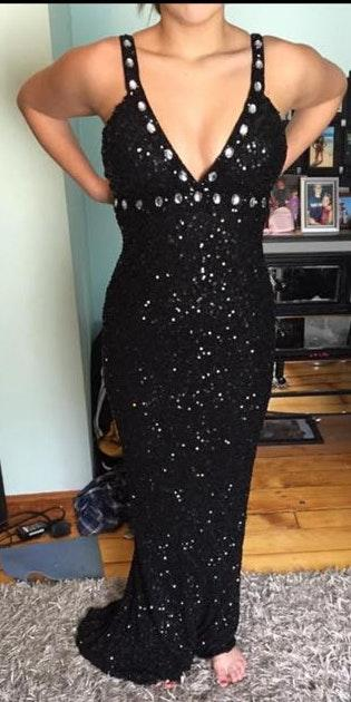 Scala Black Sequin Dress
