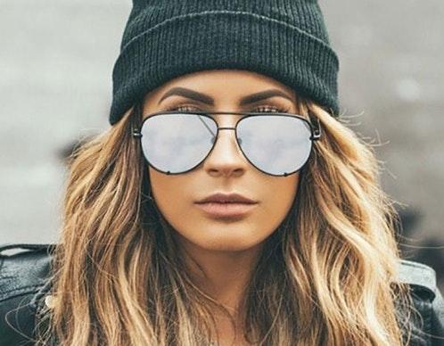 Quay High Key Silver Mirrored Sunglasses