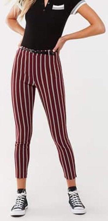 Forever 21 Black & White Striped Pants