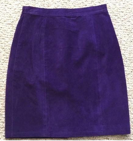 Global Identity Vintage Purple Suede Skirt