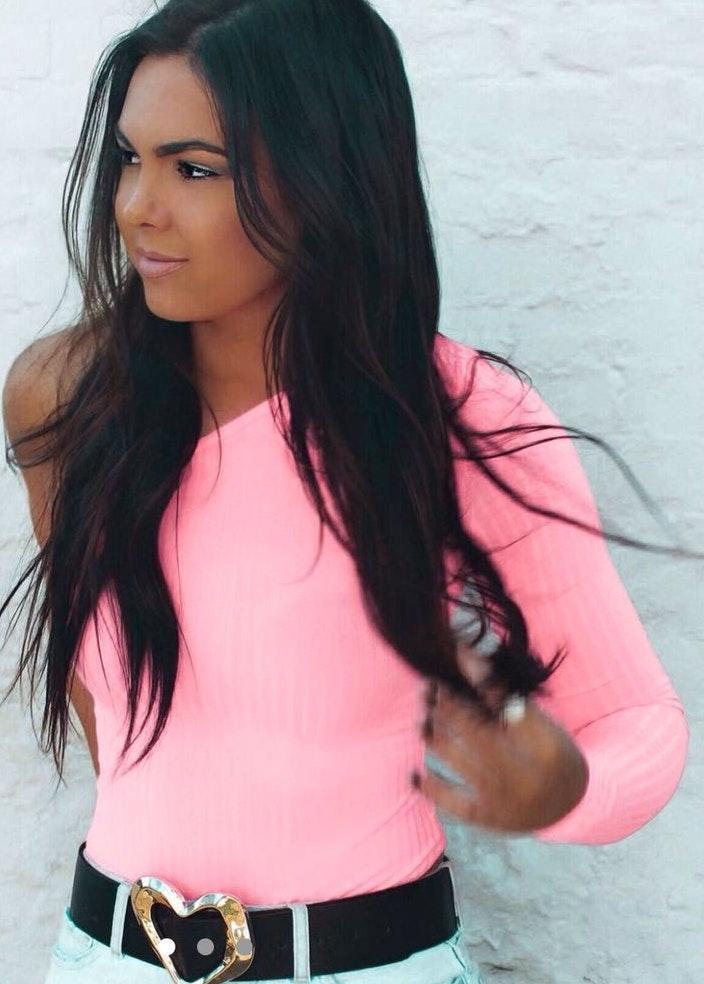 Boohoo Hot Pink Body Suit