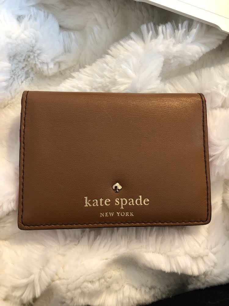 Kate Spade Brown Mini Flap Wallet