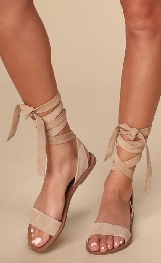 Steve Madden Brown Lace Up Sandals ★LOWEST PRICE DROP FOR THESE SANDALS★
