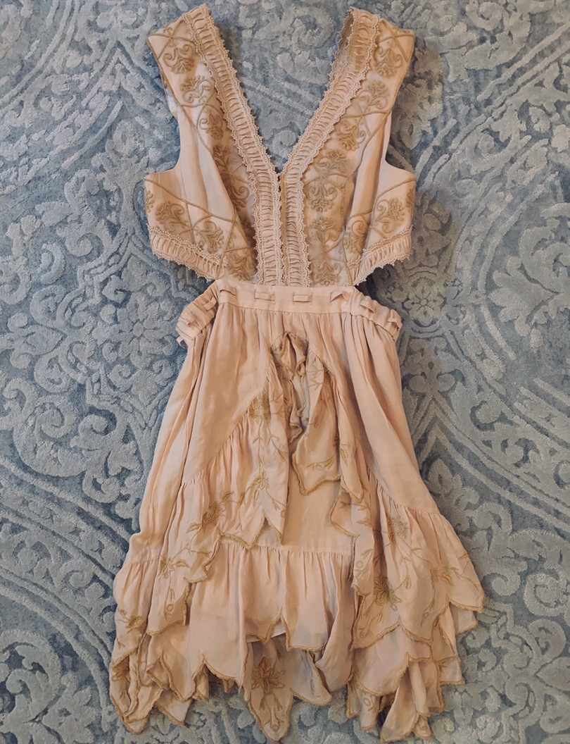 Free People Cut Out Cream Colored Dress