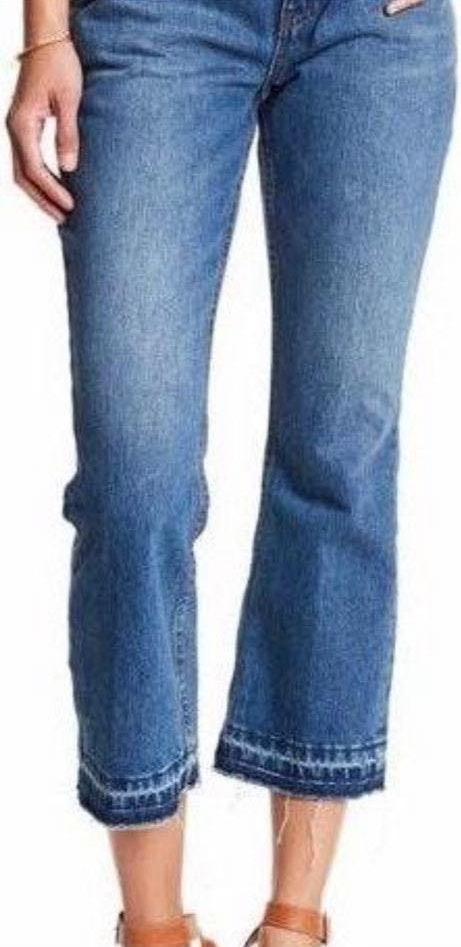 Free People High Rise Crop Flare Jeans