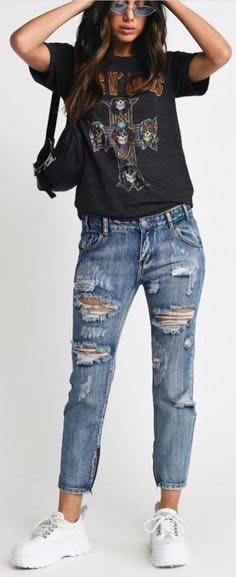 Tobi ripped skinny jeans