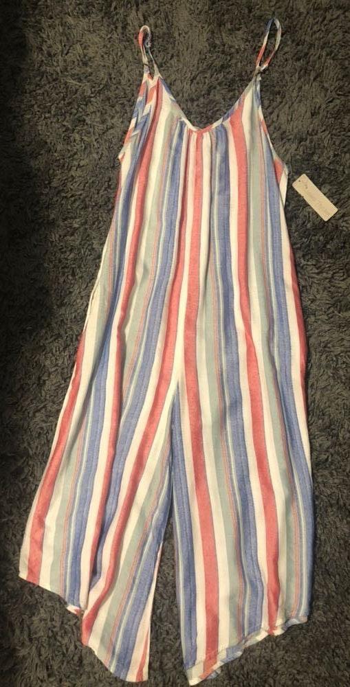 Lizard Thicket Striped Crop Jumpsuit