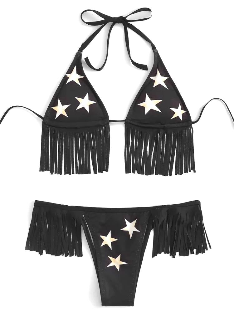 Star Fringe Bikini Set