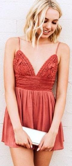 Pitaya Pink Crochet Romper