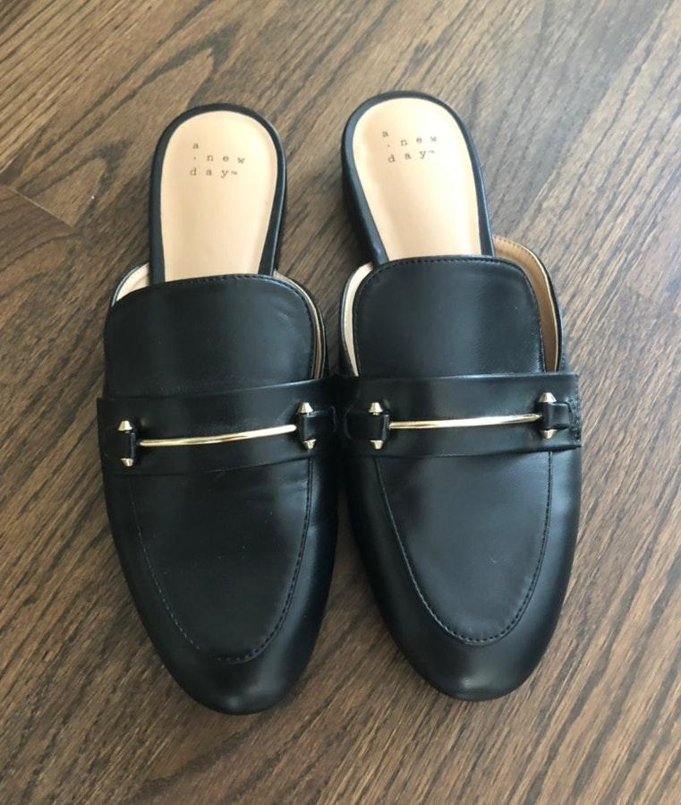A New Day Black Mules | Curtsy