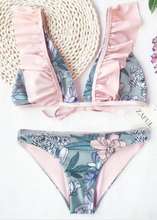 Zaful Floral Bikini