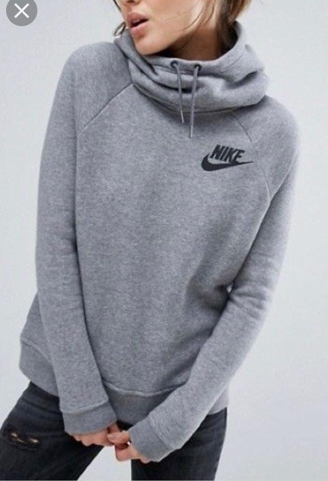 Nike Grey Women's Cowl Neck Sweatshirt