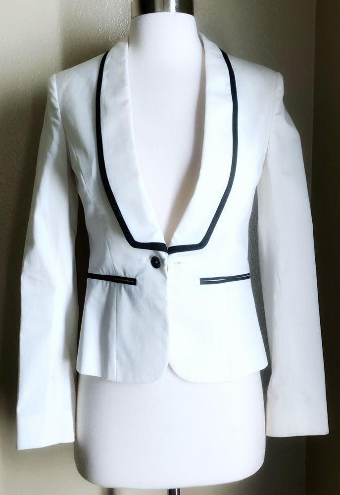 Rag & Bone White Tuxedo Style Blazer