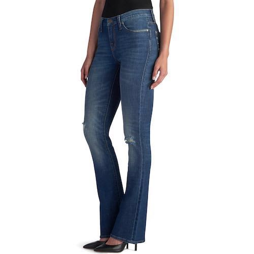 Rock & Republic  Ripped Mid Rise Boot Cut Jeans