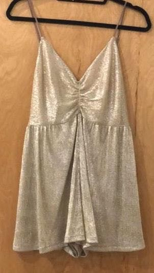 Urban Outfitters Gold Urban Romper