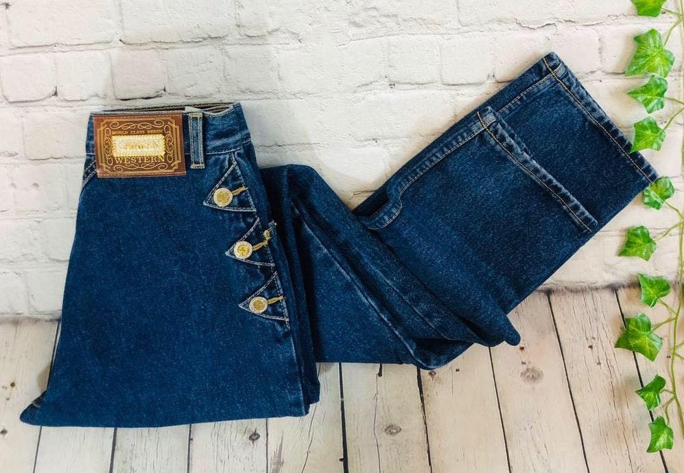 Vintage Lawman Superior High Rise Tapered Western Mom Biker Wedgie Jeans