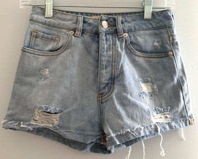 Brandy Melville High Waisted Distressed Shorts