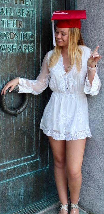 Reverse White Lace Romper
