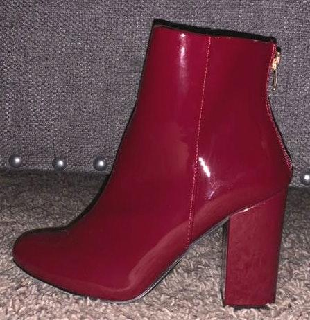 Red Ankle Booties