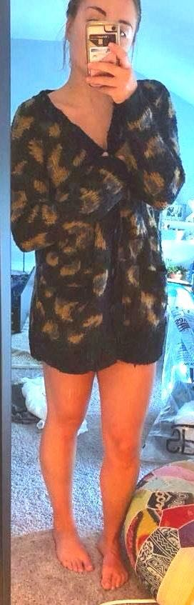 Urban Outfitters Oversized Leopard Print Cardigan