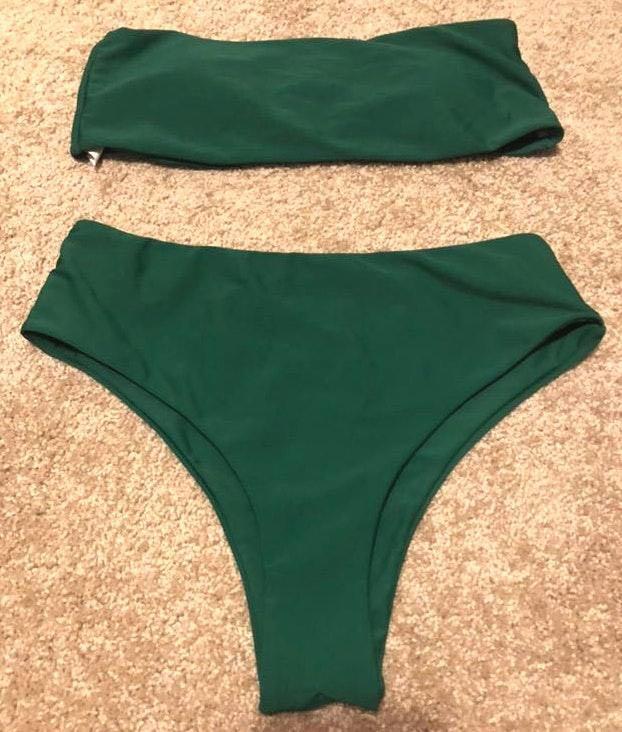 Green high waisted bikini