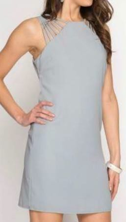 She & Sky Gray Dress NWT
