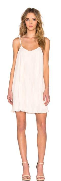 Lucy Paris Pleated NUDE/CREAM Dress