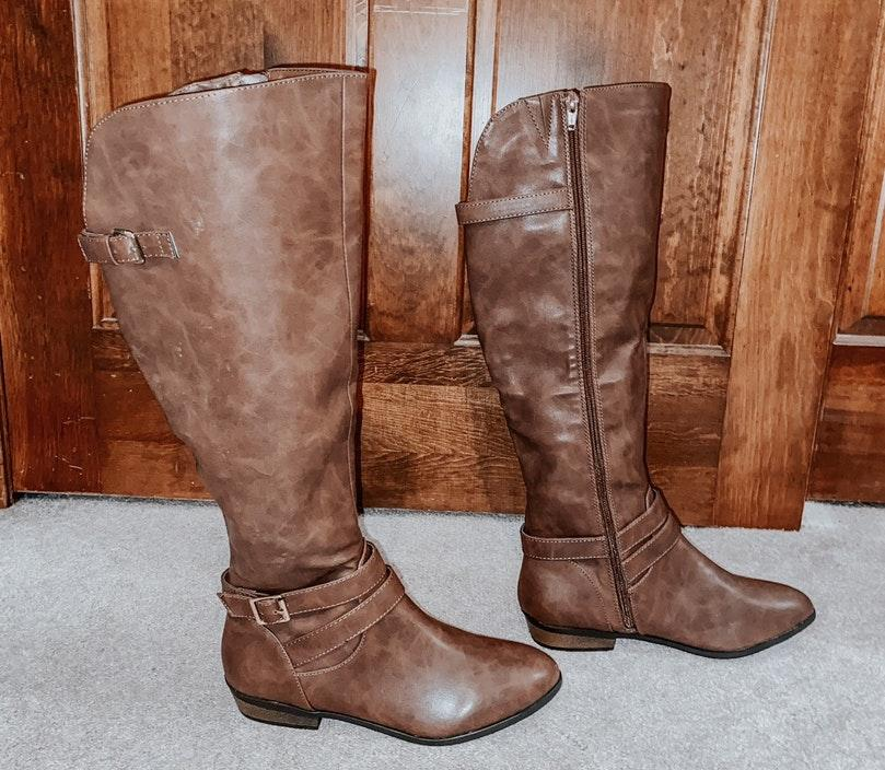 Material Girl Brown Boots   Curtsy