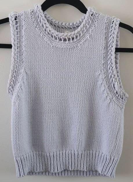 Club Monaco Blue Sweater Tank