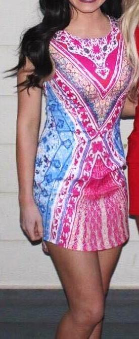 Xenia Multicolored Tight Dress