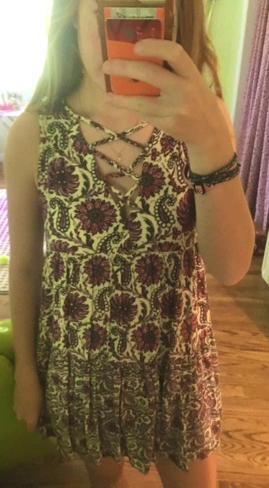 American Eagle Outfitters Flowy Flower Dress