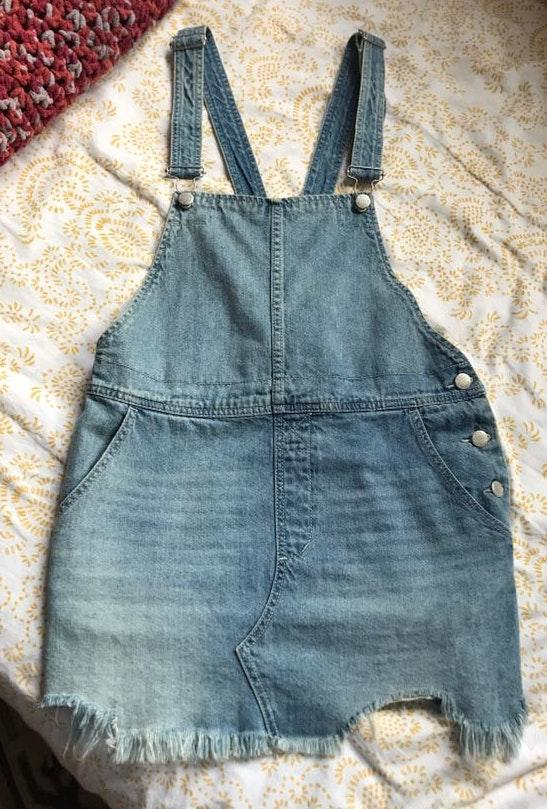 Free People Denim Dress Overalls