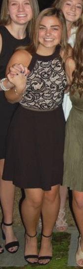 I.N. San Francisco black lace halter dress