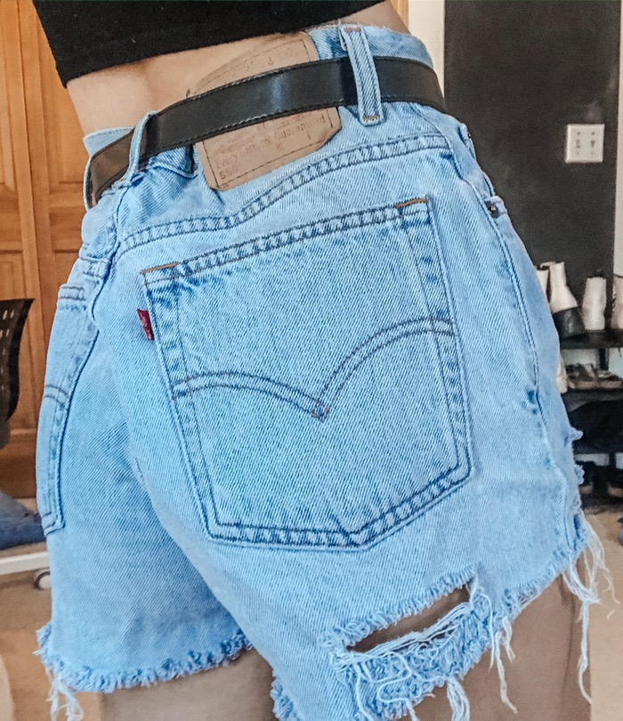 Levi's Vintage High Waisted Jean Shorts