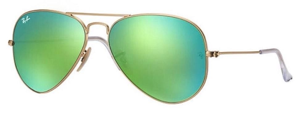 Ray-Ban Green Ray Ban Aviator Flash Sunglasses