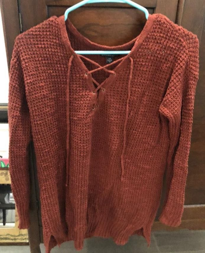 American Eagle Outfitters Lace Up Sweater