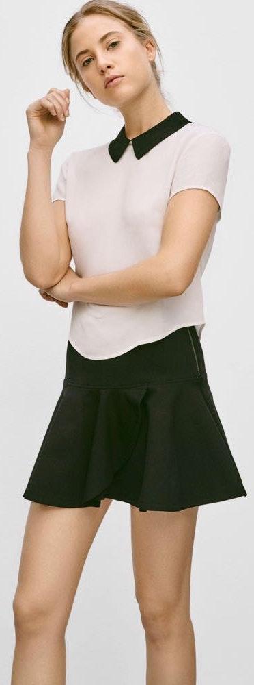 Aritzia Sunday Best Black Ruffle Skirt