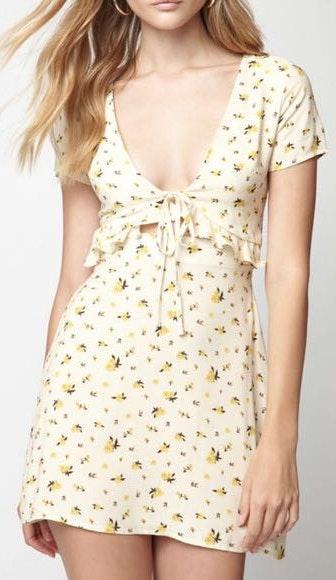 Lottie Moss Pacsun Floral Dress