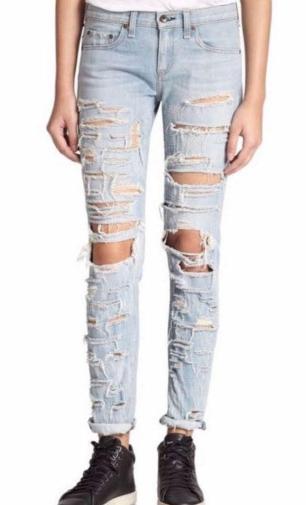 Rag & Bone Skinny Leg Distressed Jeans