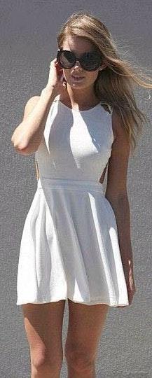 Xenia Light Salmon Strapped Dress