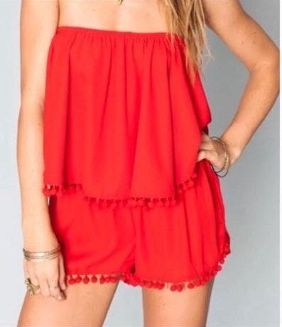 Show Me Your Mumu Red Two Piece