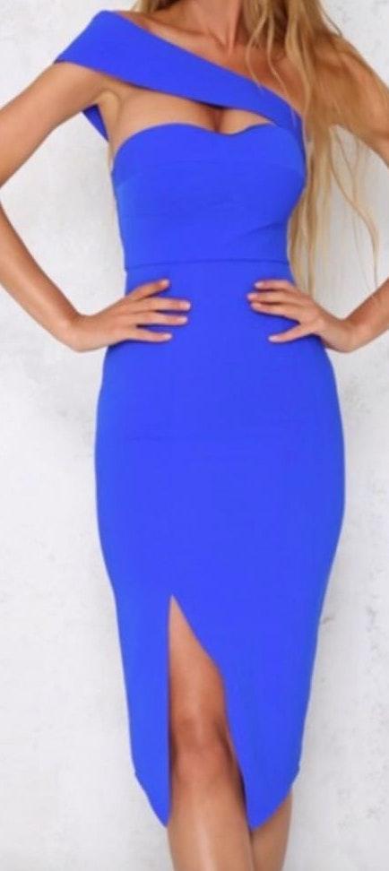 Hello Molly Royal blue Dress