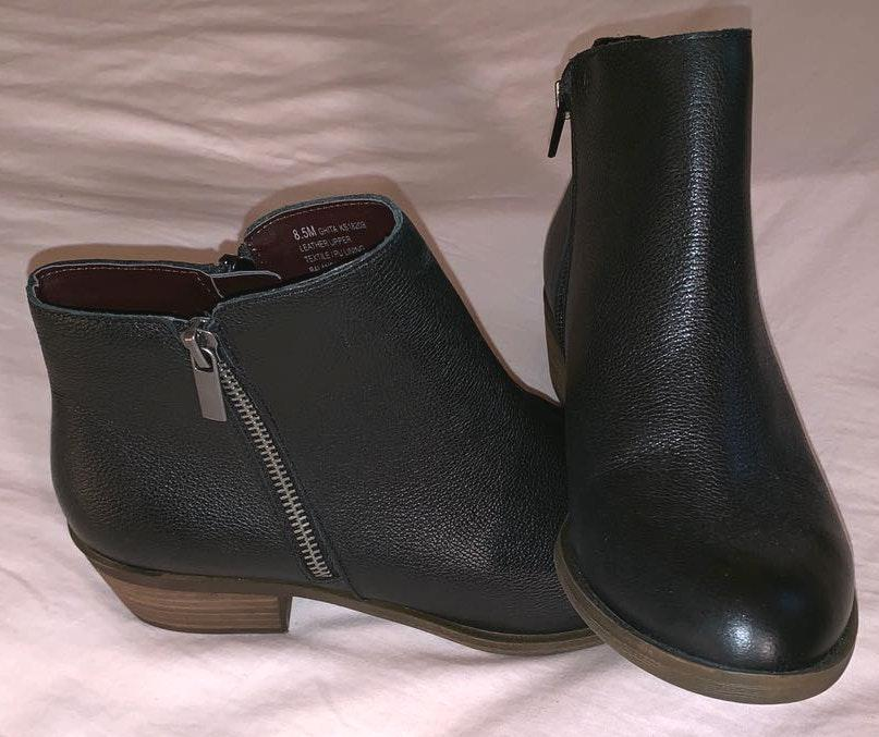 Kensie Black Leather Boots