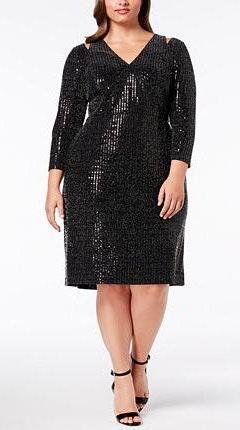 Calvin Klein New Plus Size Sequin Sheath Dress 16w