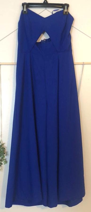 TCEC NWOT Sassy Blue Jumpsuit w/ Cut Out