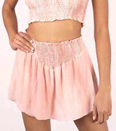 Tobi Pink Tie Dye Shorts