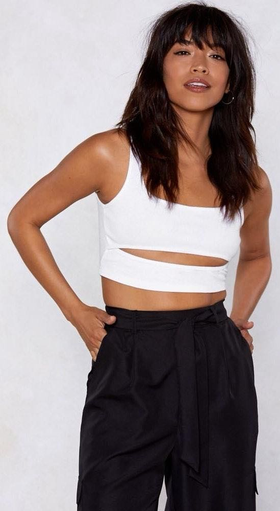 Nasty Gal Cut-Out Ribbed Crop Top